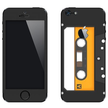 Виниловая наклейка «Аудио-кассета» на телефон Apple iPhone 5