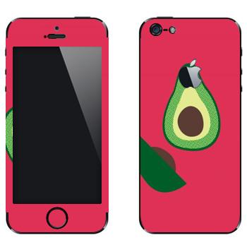 Виниловая наклейка «Авокадо - Georgiana Paraschiv» на телефон Apple iPhone 5
