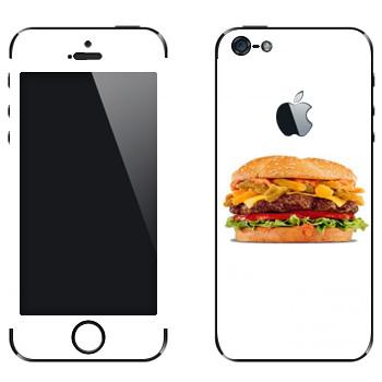 Виниловая наклейка «Большой гамбургер» на телефон Apple iPhone 5