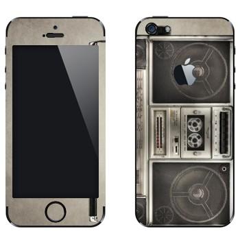 Виниловая наклейка «Бумбокс кассетный» на телефон Apple iPhone 5
