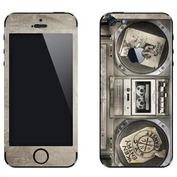 Виниловая наклейка «Бумбокс» на телефон Apple iPhone 5