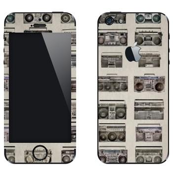 Виниловая наклейка «Бумбоксы» на телефон Apple iPhone 5