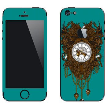 Виниловая наклейка «Часы дизайнерские» на телефон Apple iPhone 5