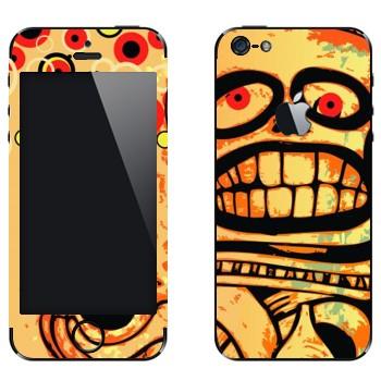 Виниловая наклейка «Череп Ацтеки» на телефон Apple iPhone 5