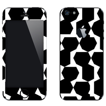 Виниловая наклейка «Черные многоугольники - Georgiana Paraschiv» на телефон Apple iPhone 5