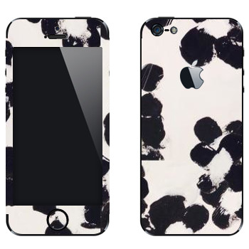 Виниловая наклейка «Черные пятна - Georgiana Paraschiv» на телефон Apple iPhone 5