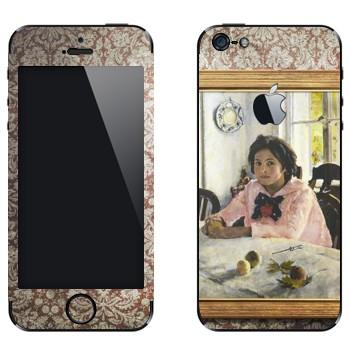 Виниловая наклейка «Девочка с персиками  - Валентин Серов» на телефон Apple iPhone 5