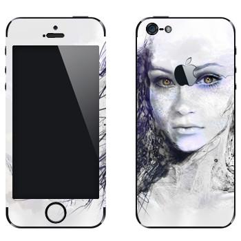 Виниловая наклейка «Девушка арт» на телефон Apple iPhone 5