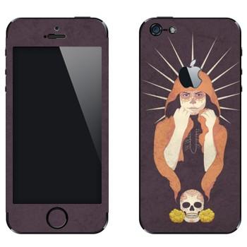 Виниловая наклейка «Девушка-смерть» на телефон Apple iPhone 5