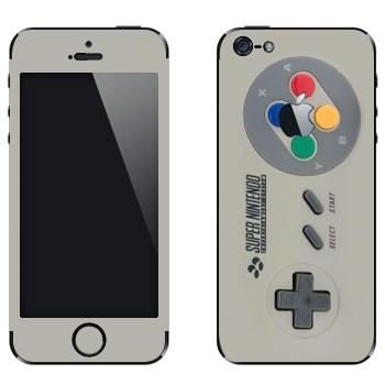 Виниловая наклейка «Джойстик Super Nintendo» на телефон Apple iPhone 5