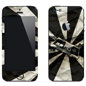 Виниловая наклейка «Джойстик от приставки ретро» на телефон Apple iPhone 5