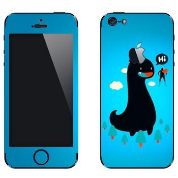Виниловая наклейка «Дракон и супермэн» на телефон Apple iPhone 5