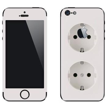 Виниловая наклейка «Двойная розетка» на телефон Apple iPhone 5