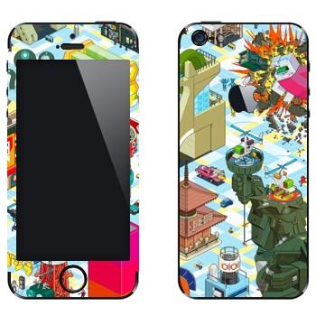 Виниловая наклейка «eBoy -  пиксельная графика» на телефон Apple iPhone 5