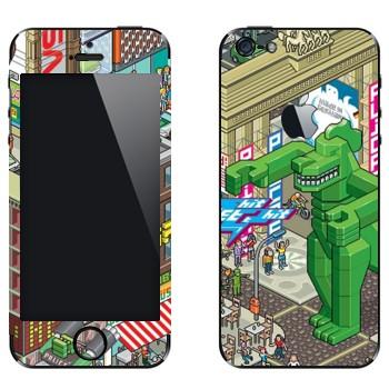 Виниловая наклейка «eBoy - Берлин» на телефон Apple iPhone 5