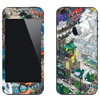 Виниловая наклейка «eBoy - Париж» на телефон Apple iPhone 5
