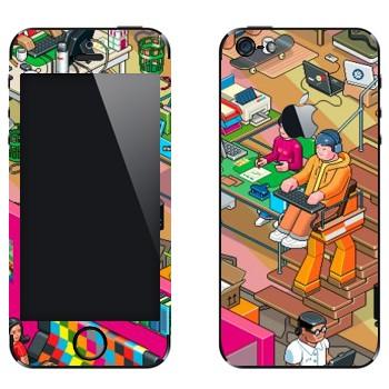 Виниловая наклейка «eBoy - студия» на телефон Apple iPhone 5