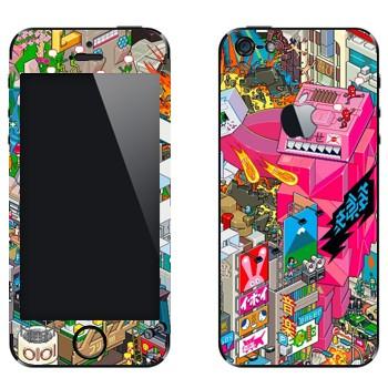 Виниловая наклейка «eBoy - Токио» на телефон Apple iPhone 5