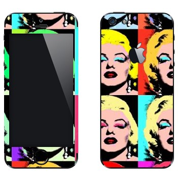 Виниловая наклейка «Энди Уорхол - Мэрилин Монро» на телефон Apple iPhone 5