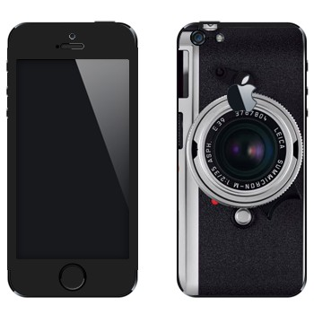 Виниловая наклейка «Фотоаппарт Leica M8» на телефон Apple iPhone 5
