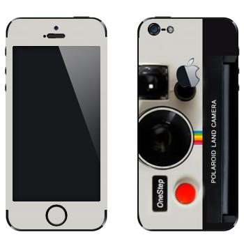 Виниловая наклейка «Фотокамера Полароид» на телефон Apple iPhone 5