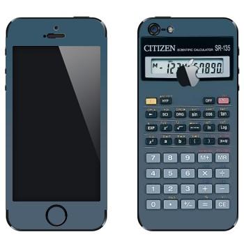 Виниловая наклейка «Калькулятор инженерный» на телефон Apple iPhone 5