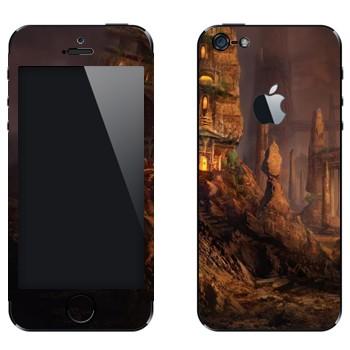 Виниловая наклейка «Каменный город» на телефон Apple iPhone 5