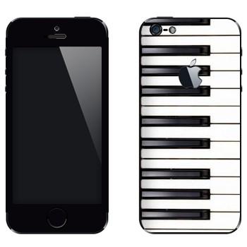 Виниловая наклейка «Клавиши» на телефон Apple iPhone 5