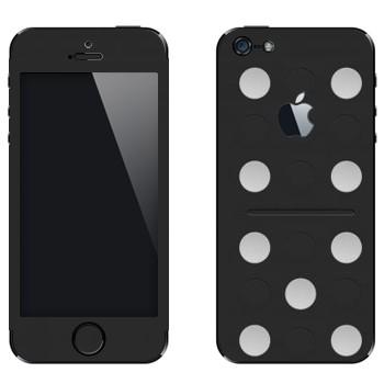 Виниловая наклейка «Кость домино» на телефон Apple iPhone 5