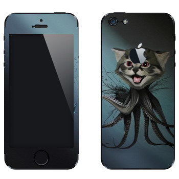 Виниловая наклейка «Котенок-осьминог - Robert Bowen» на телефон Apple iPhone 5