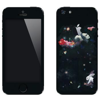Виниловая наклейка «Кролик и панда - Kisung» на телефон Apple iPhone 5