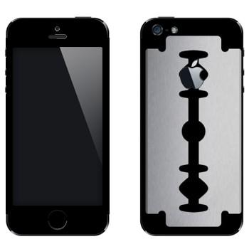 Виниловая наклейка «Лезвие» на телефон Apple iPhone 5