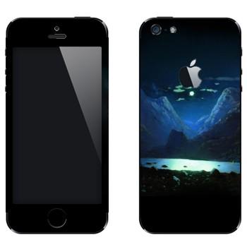 Виниловая наклейка «Лунная ночь - Архип Куинджи» на телефон Apple iPhone 5