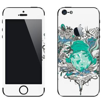 Виниловая наклейка «Лягушка и бриллиант» на телефон Apple iPhone 5