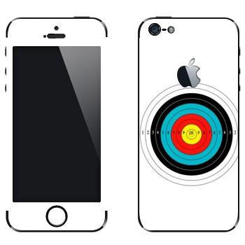 Виниловая наклейка «Мишень» на телефон Apple iPhone 5