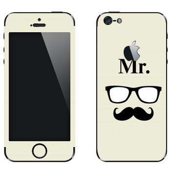 Виниловая наклейка «Мистер» на телефон Apple iPhone 5