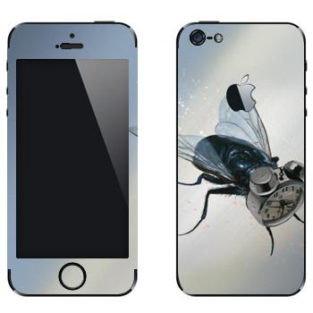 Виниловая наклейка «Муха-будильник - Robert Bowen» на телефон Apple iPhone 5