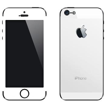 Виниловая наклейка «Наклейка под белый iPhone 5» на телефон Apple iPhone 5