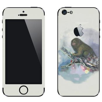 Виниловая наклейка «Обезьяна на ветке - Kisung» на телефон Apple iPhone 5