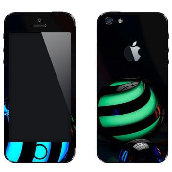 Виниловая наклейка «Объемные шары» на телефон Apple iPhone 5