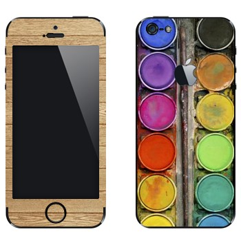 Виниловая наклейка «Палитра с красками» на телефон Apple iPhone 5