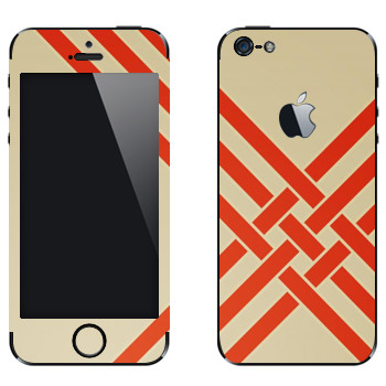 Виниловая наклейка «Переплетающиеся оранжевые полосы - Georgiana Paraschiv» на телефон Apple iPhone 5