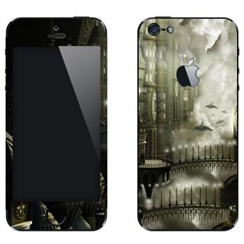 Виниловая наклейка «Пересечение» на телефон Apple iPhone 5