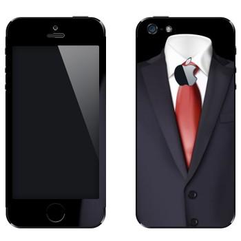 Виниловая наклейка «Пиджак и красный галстук» на телефон Apple iPhone 5