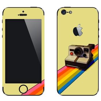 Виниловая наклейка «Полароид на радуге» на телефон Apple iPhone 5