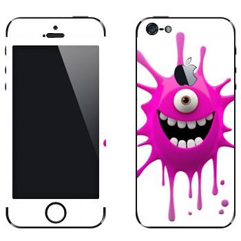 Виниловая наклейка «Позитивная клякса» на телефон Apple iPhone 5