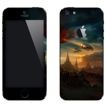 Виниловая наклейка «Протосы возвращаются» на телефон Apple iPhone 5