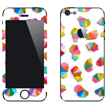 Виниловая наклейка «Разноцветная карандашная стружка - Georgiana Paraschiv» на телефон Apple iPhone 5