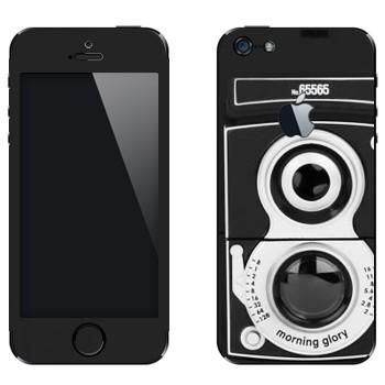 Виниловая наклейка «Ретро фотокамера» на телефон Apple iPhone 5