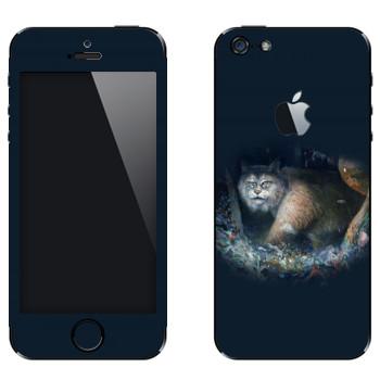 Виниловая наклейка «Рысь - Kisung» на телефон Apple iPhone 5